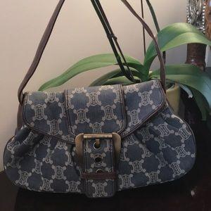 Celine Denim shoulder bag